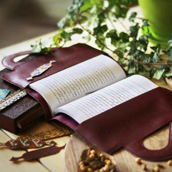 کیف چرمی کتاب نشانک - کتابجا