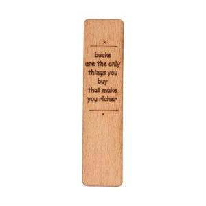 نشان کتاب نشانک چوبی و گلیمی