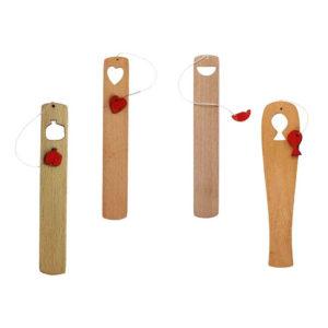 بوکمارک چوبی کودکانه طرح آدمک نشانک
